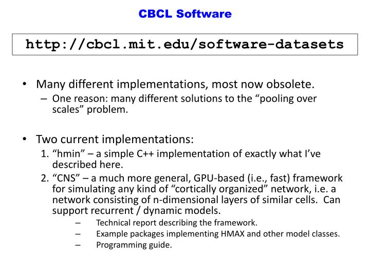 CBCL Software