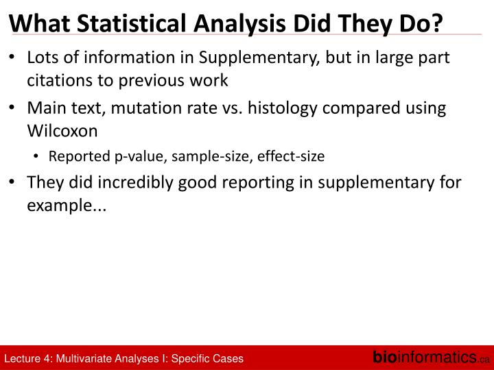 What Statistical Analysis Did They Do?