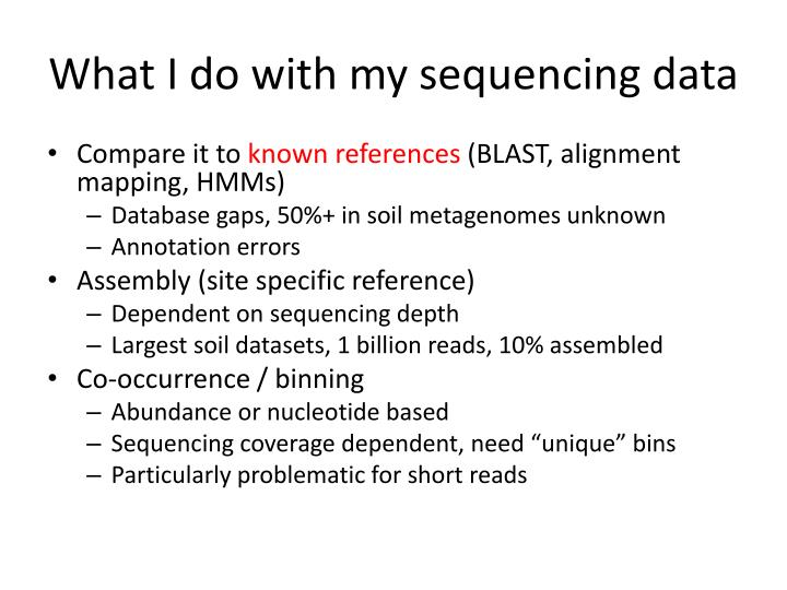 What i do with my sequencing data