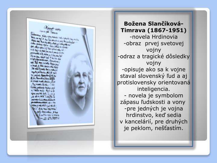Božena Slančíková-Timrava (1867-1951)