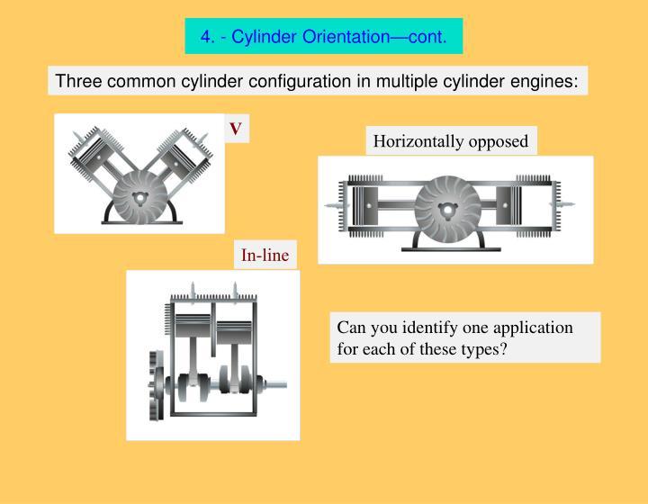 4. - Cylinder Orientation—cont.