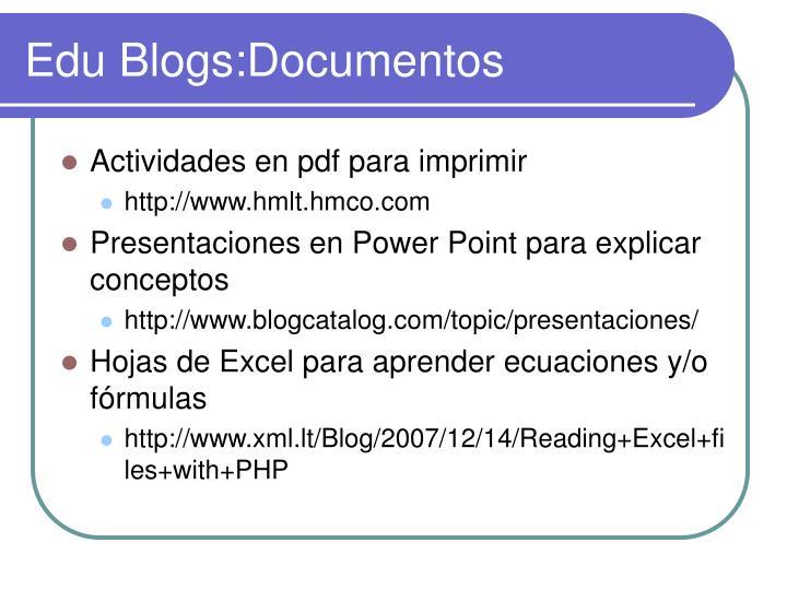Edu Blogs:Documentos