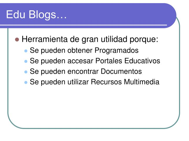 Edu Blogs…
