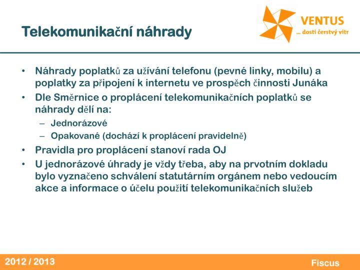 Telekomunikační náhrady
