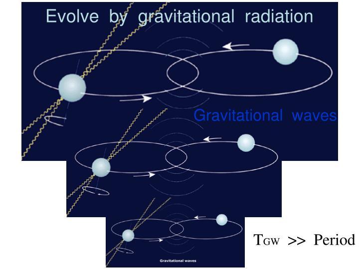 Evolve  by  gravitational  radiation