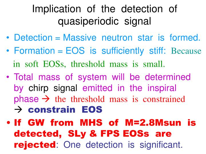 Implication  of  the  detection  of  quasiperiodic  signal