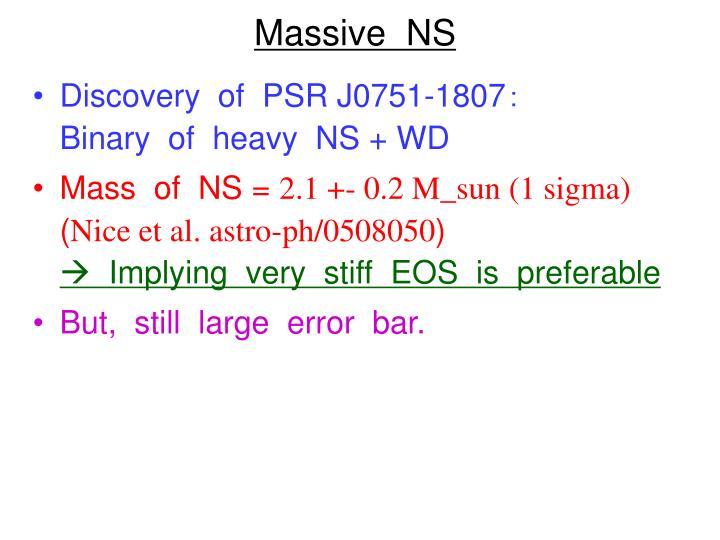 Massive  NS
