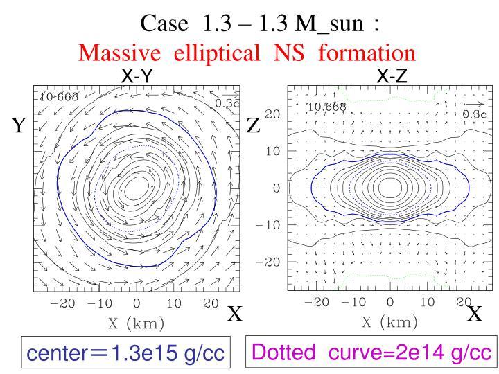 Case  1.3 – 1.3 M_sun