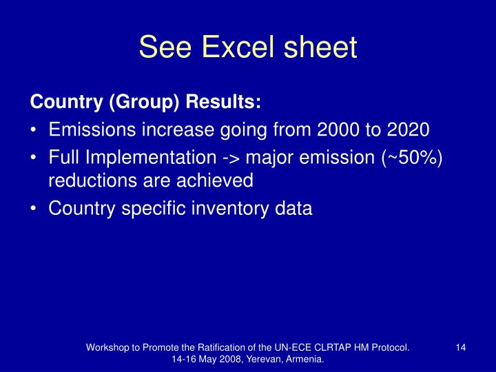 See Excel sheet