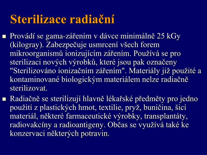 Sterilizace radiační