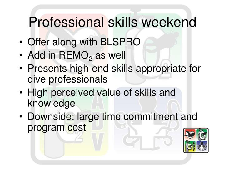 Professional skills weekend