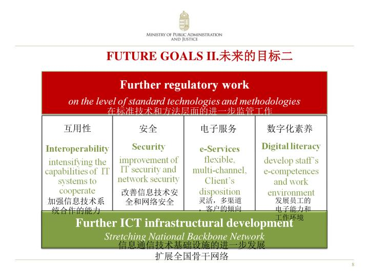 FUTURE GOALS II.