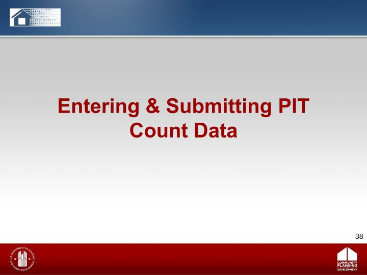 Entering & Submitting PIT Count Data