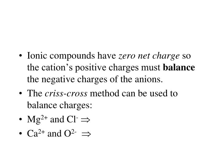 Ionic compounds have