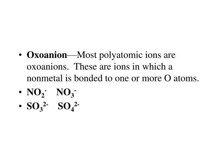 Oxoanion