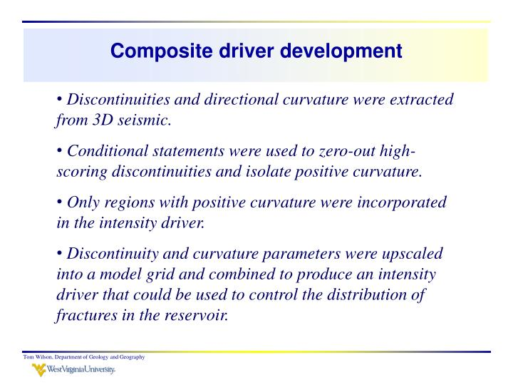 Composite driver development