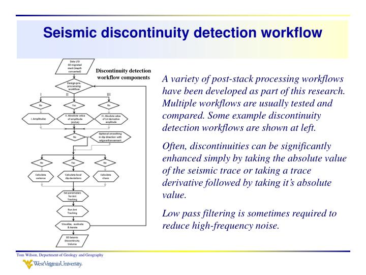 Seismic discontinuity detection workflow
