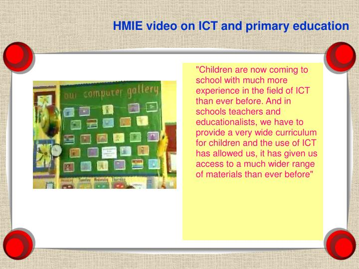 HMIE video on ICT and primary education