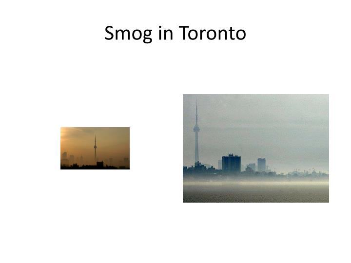 Smog in Toronto