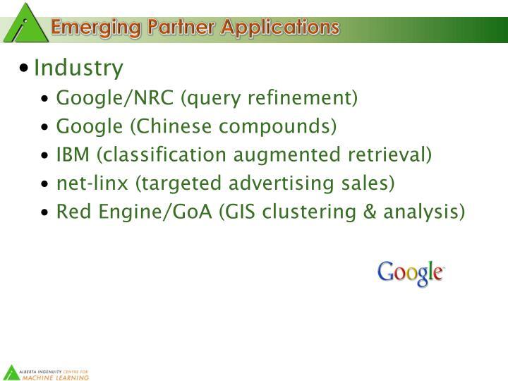 Emerging Partner Applications