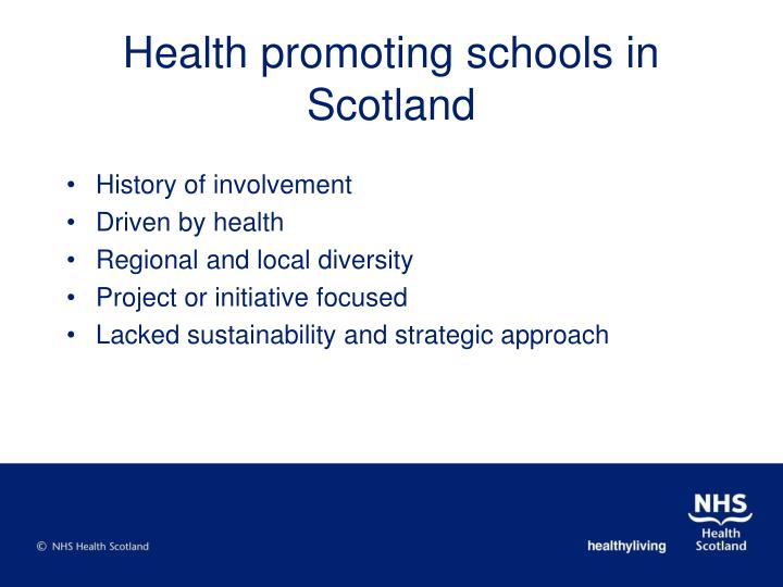 Health promoting schools in scotland