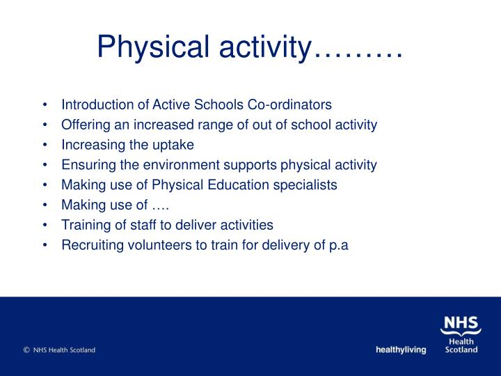 Physical activity………