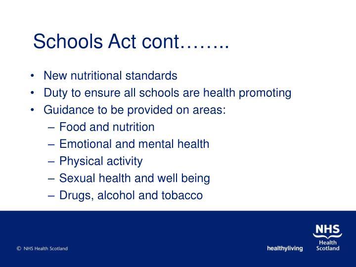 Schools Act cont……..