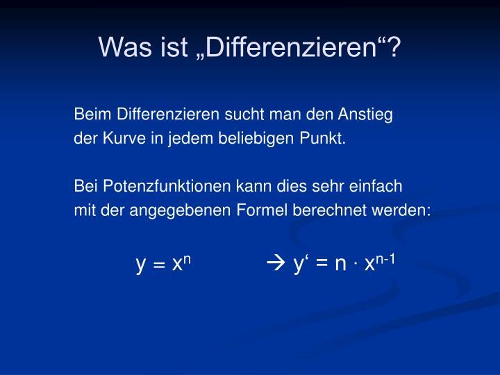 """Was ist """"Differenzieren""""?"""