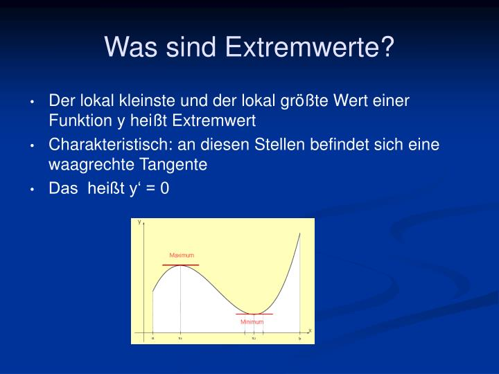 Was sind Extremwerte?
