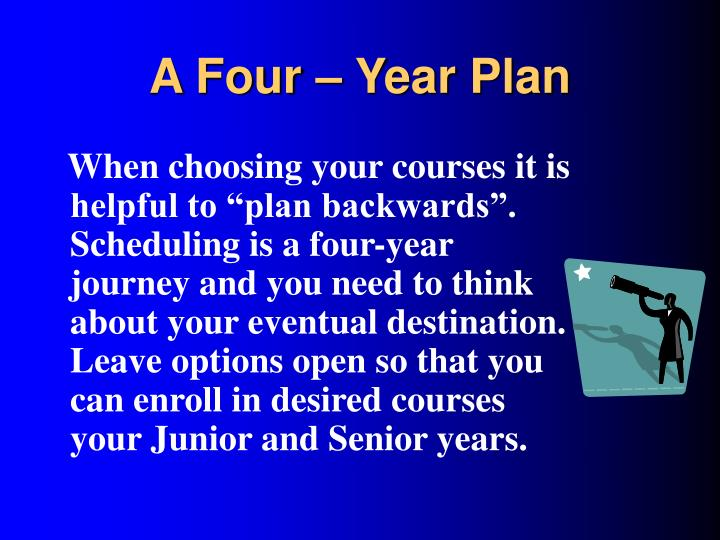 A Four – Year Plan