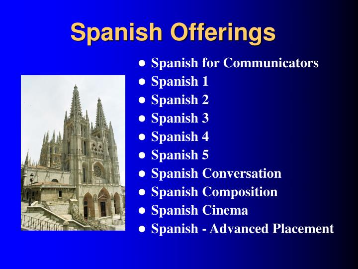 Spanish Offerings