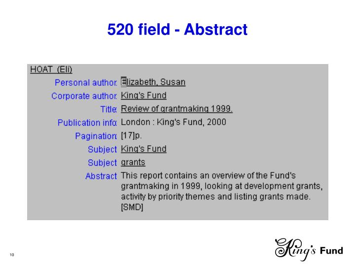 520 field - Abstract