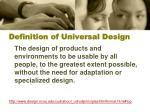 definition of universal design