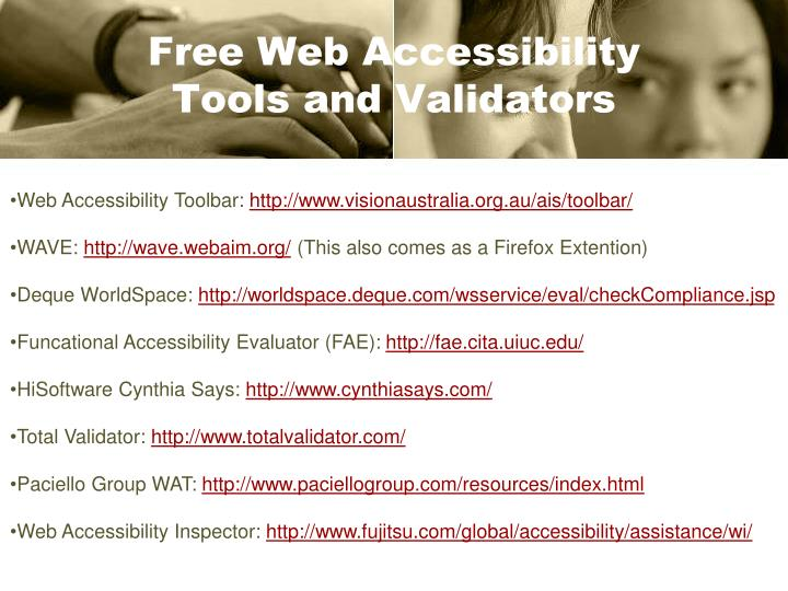 Free Web Accessibility