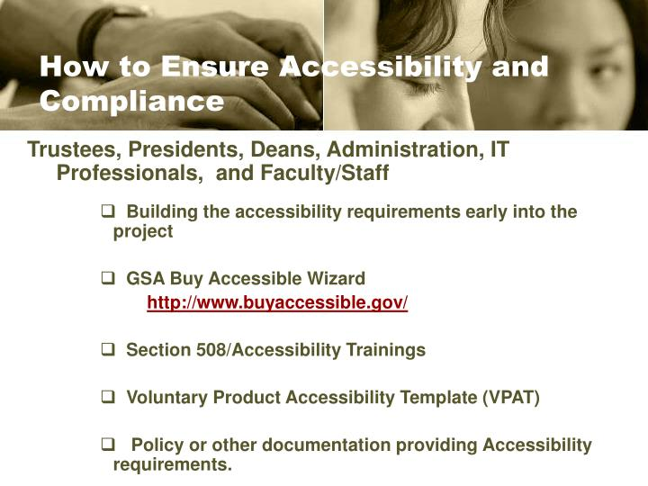 How to Ensure Accessibility and Compliance