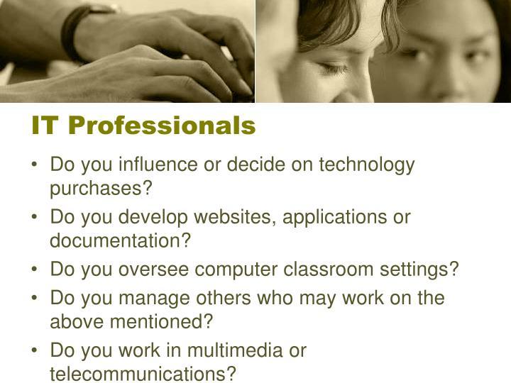 IT Professionals