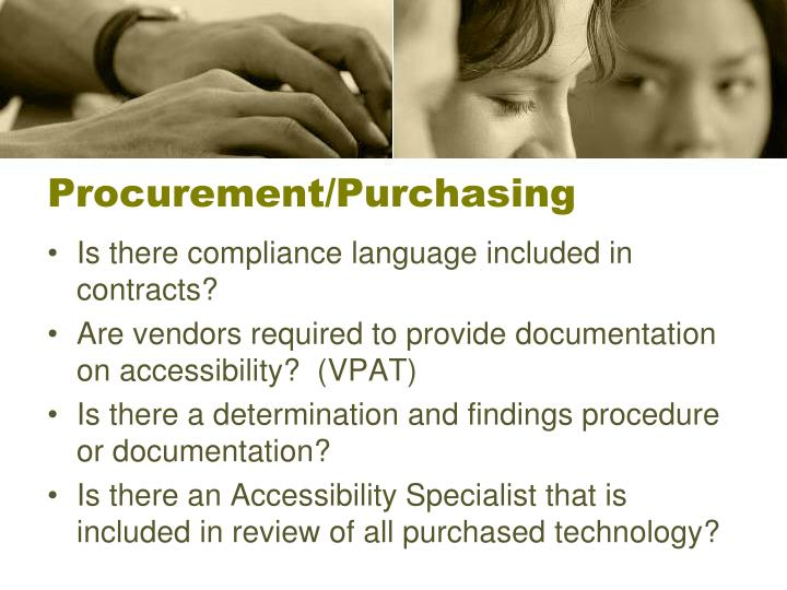 Procurement/Purchasing