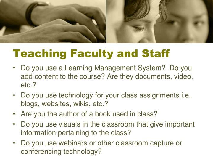 Teaching Faculty and Staff
