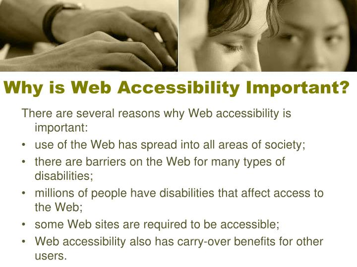 Why is Web Accessibility Important?