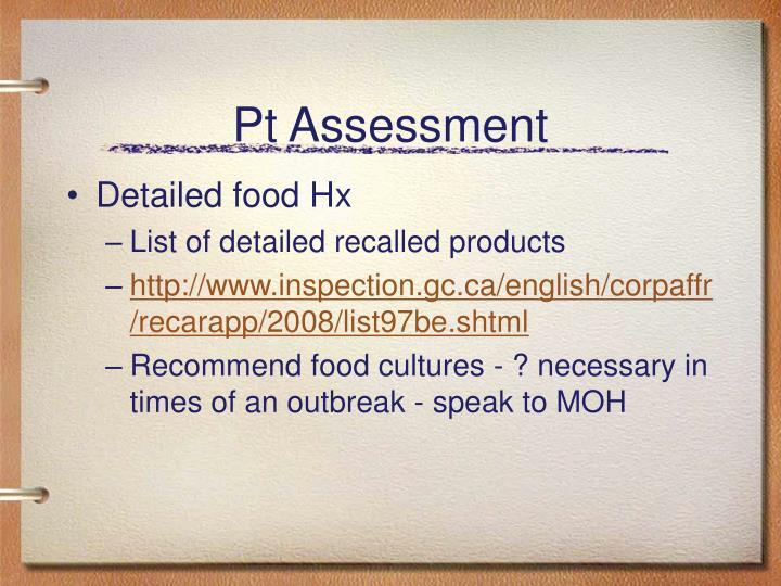 Pt Assessment