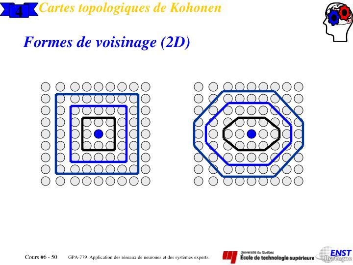 Cartes topologiques de Kohonen
