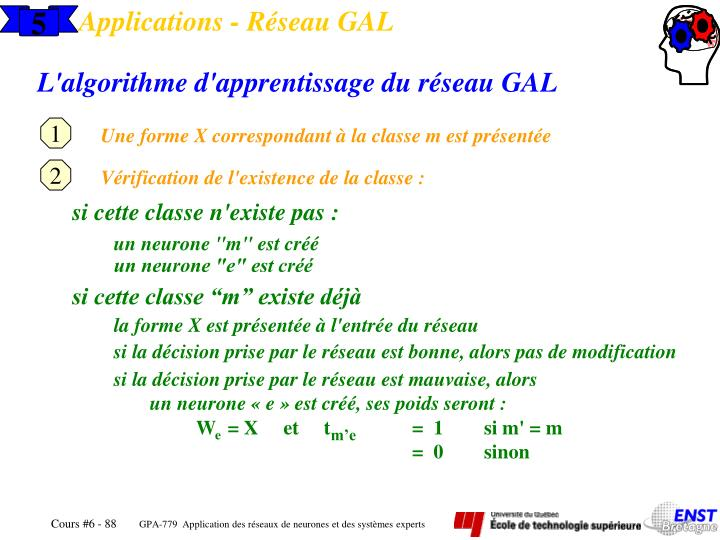 Applications - Réseau GAL