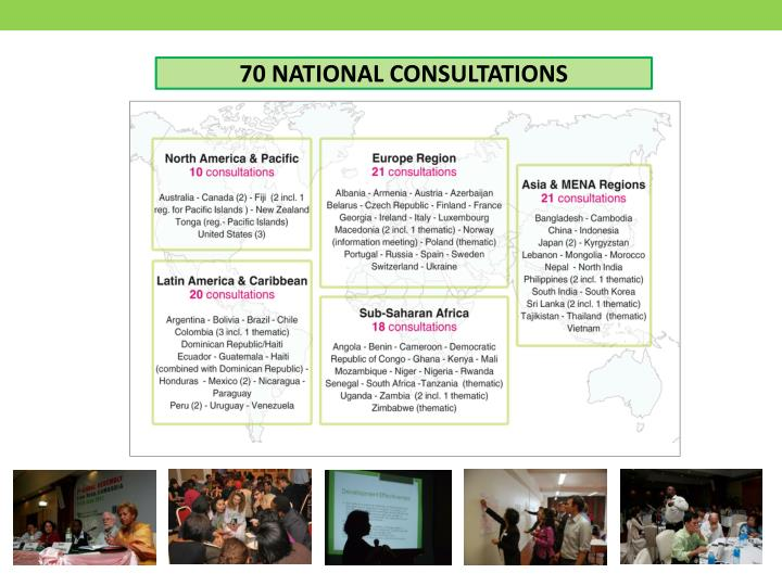 70 NATIONAL CONSULTATIONS