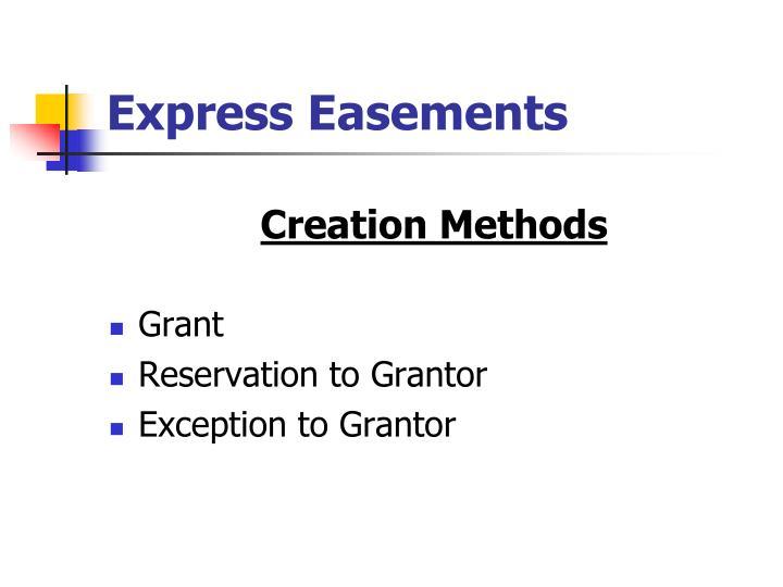 Express Easements