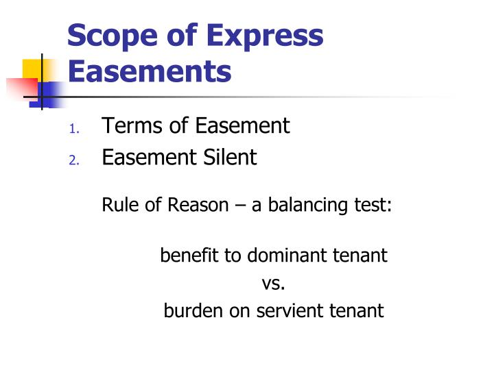 Scope of Express Easements