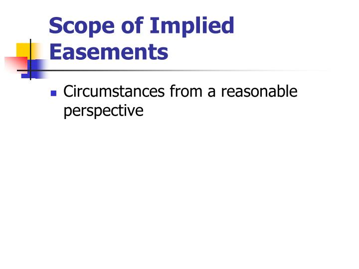 Scope of Implied Easements