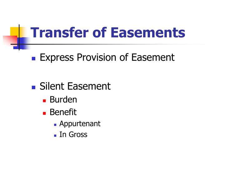 Transfer of Easements