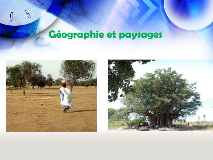Gographie et paysages