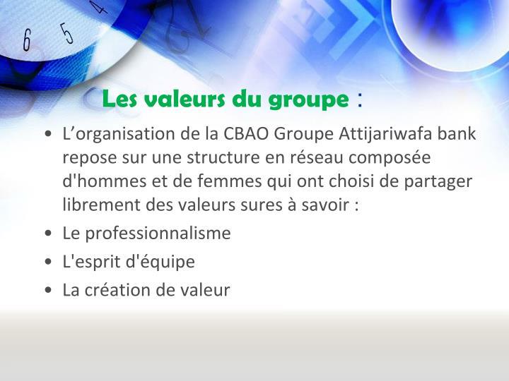 Les valeurs du groupe