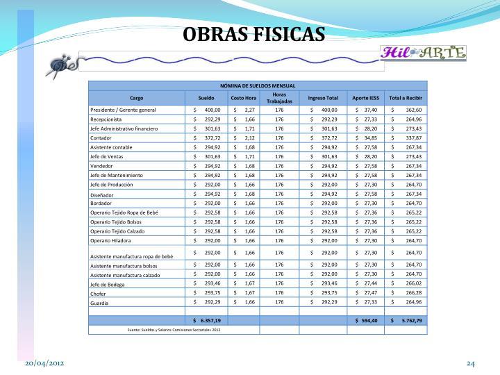 OBRAS FISICAS